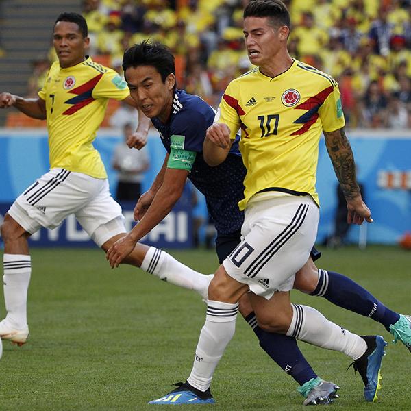 Colombia cae en su debut mundialista